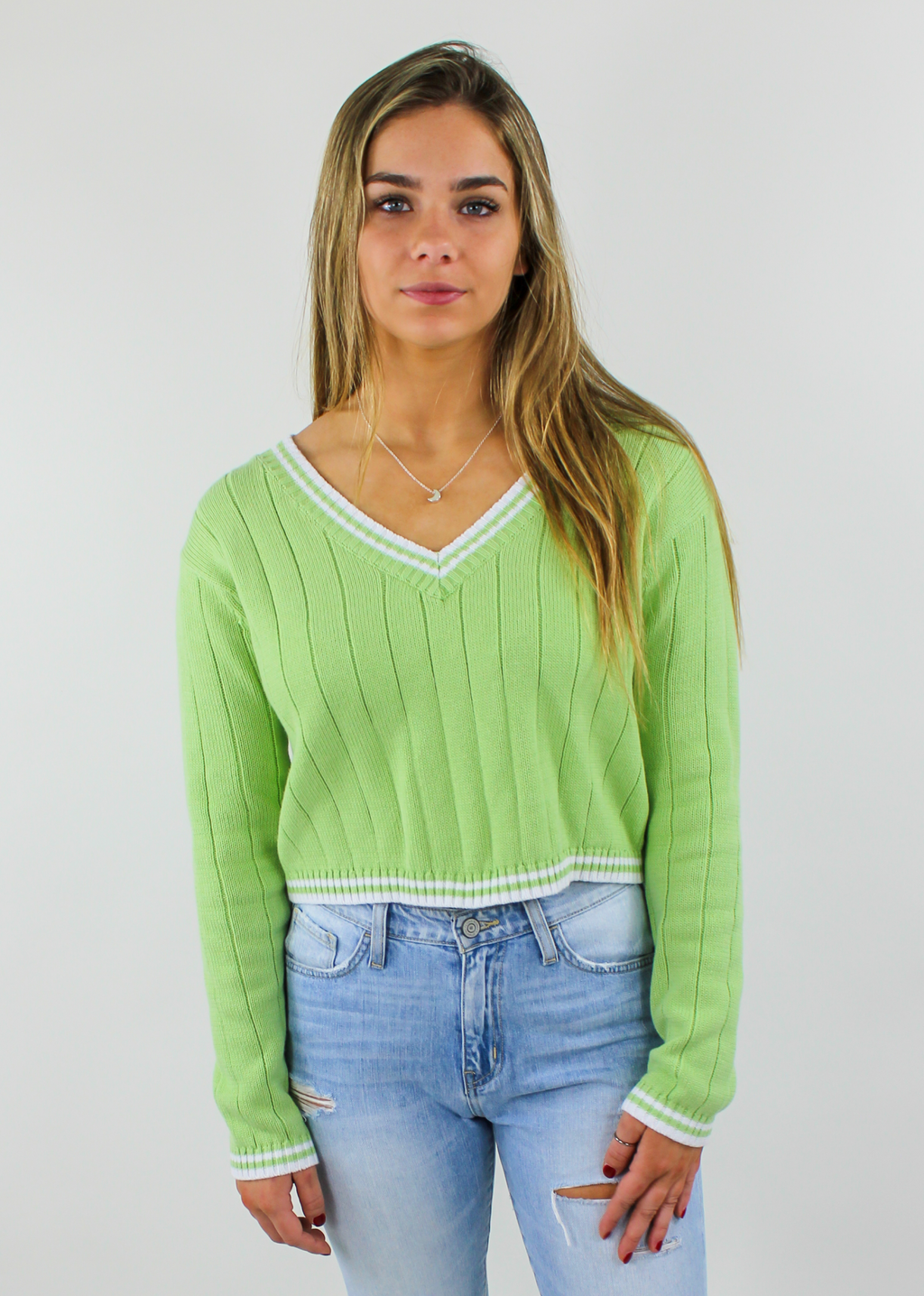 Light Me Up Sweater ★ Lime Green