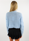 Thank You Next Cropped Sweater ★ Sky Blue