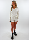 Stay Home Club Henley Shorts Set ★ White