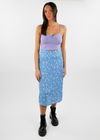 Flower Power Skirt ★ Baby Blue - Rock N Rags