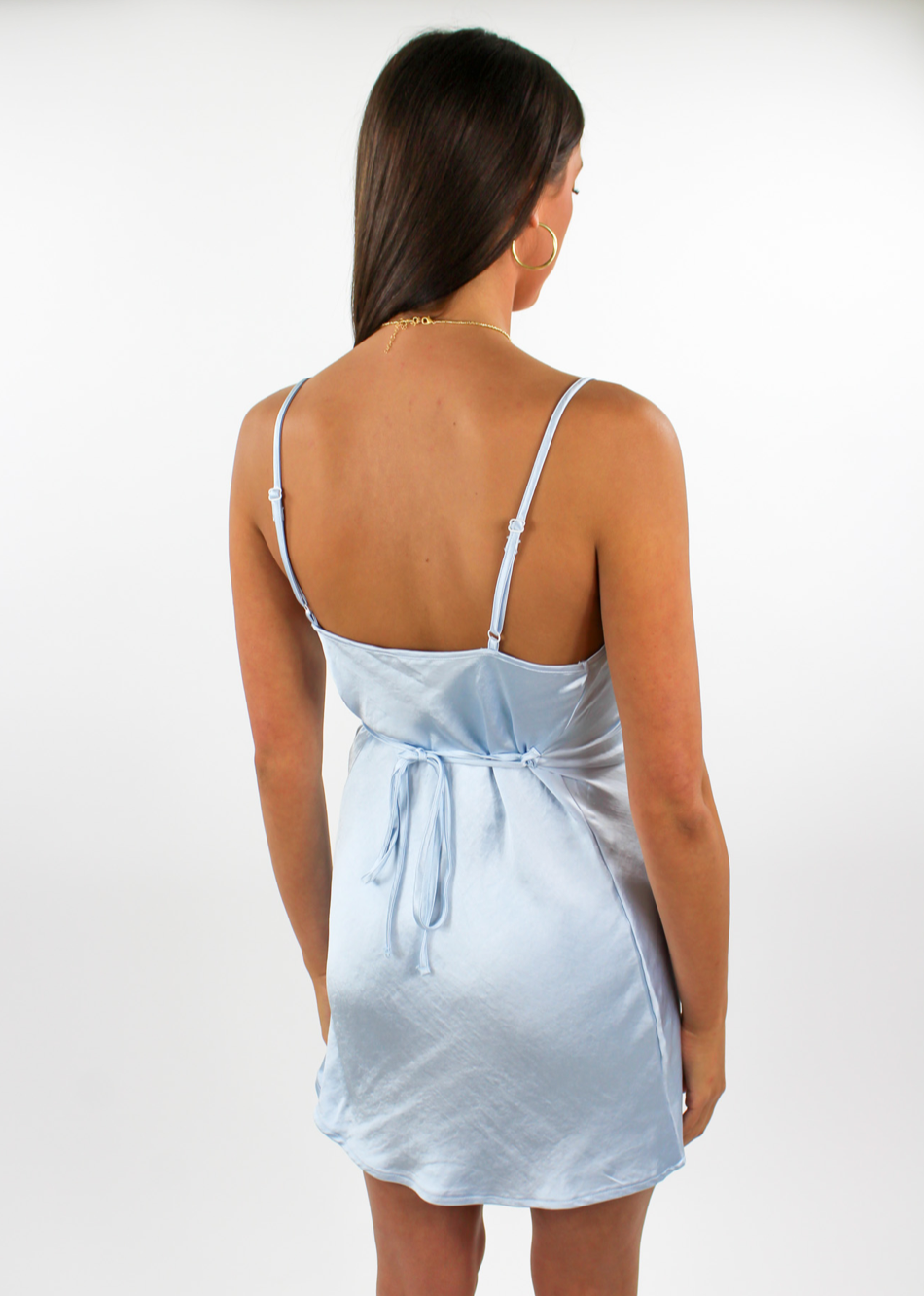 Cinderella Story Satin Dress ★ Powder Blue - Rock N Rags