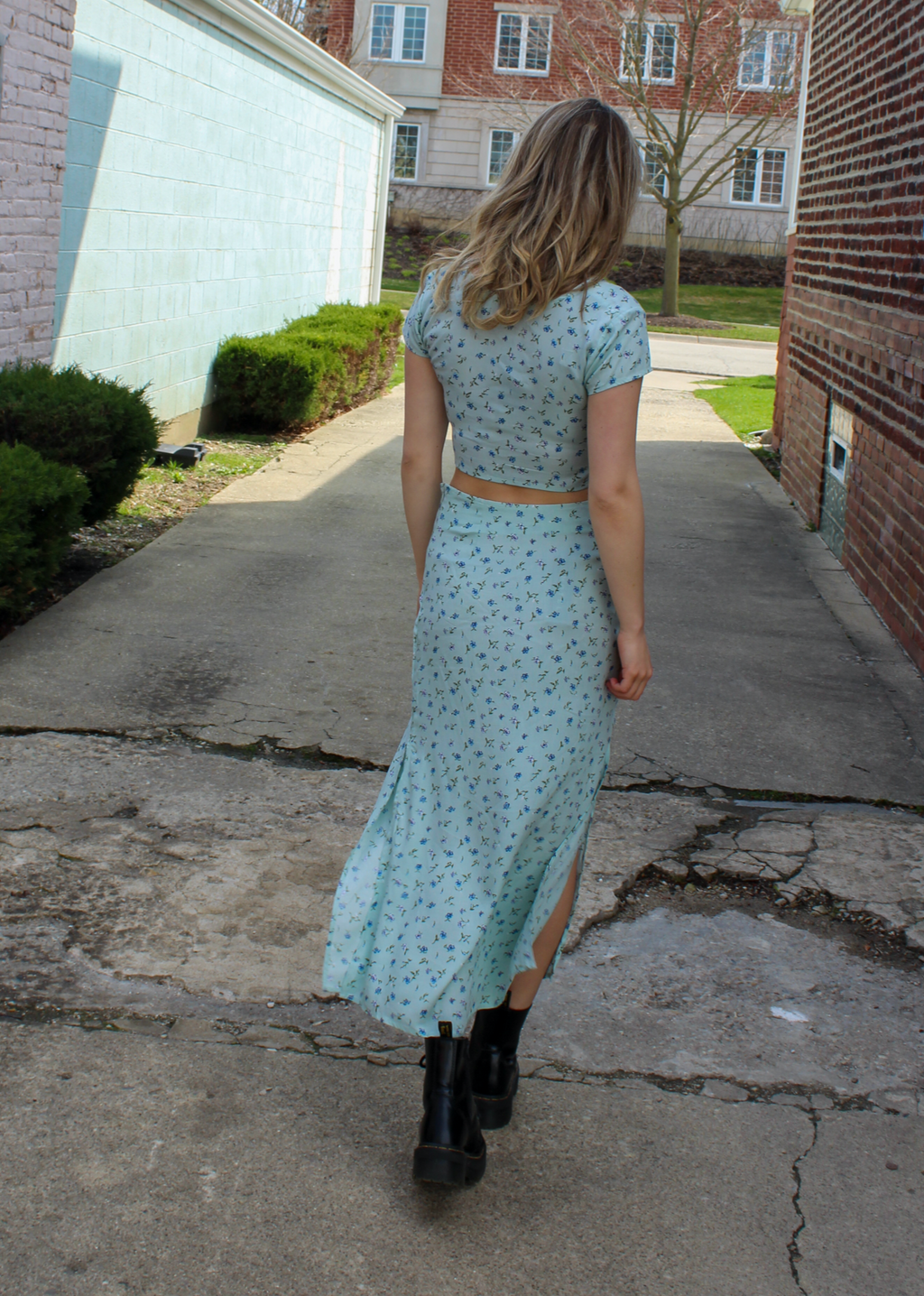 Oh Honey Midi Skirt ★ Aqua - Rock N Rags