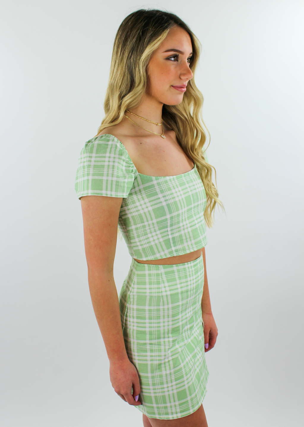 Clueless Top ★ Green Plaid - Rock N Rags