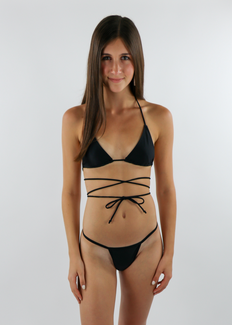 Tidal Wave Bikini Top ★ Black - Rock N Rags