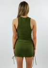 Tongue Tied Dress ★ Olive Green