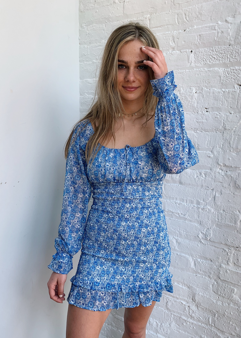 Met You In The Summer Dress ★ Blue Floral - Rock N Rags