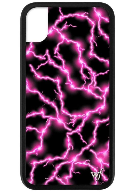Electric Pink Wildflower Phone Case ★ Pink/Black - Rock N Rags