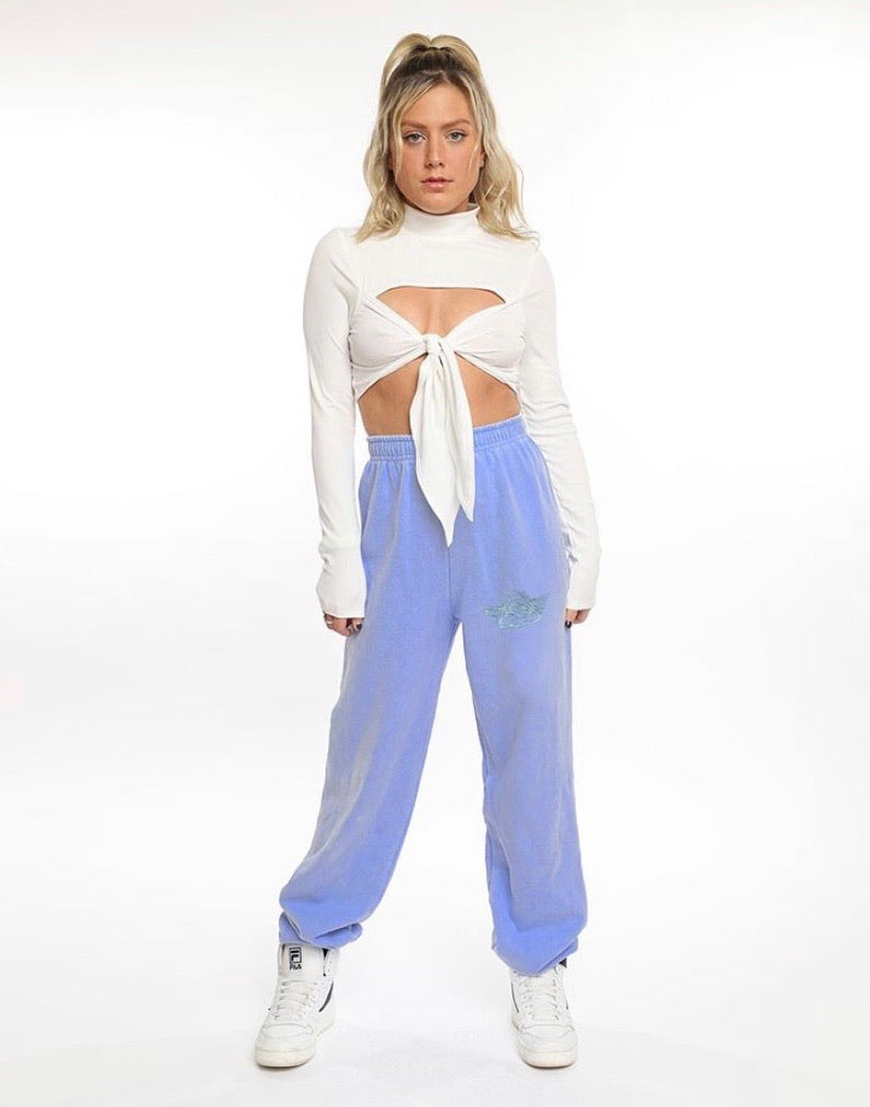 Boys Lie With Love Flo Blue Sweatpants