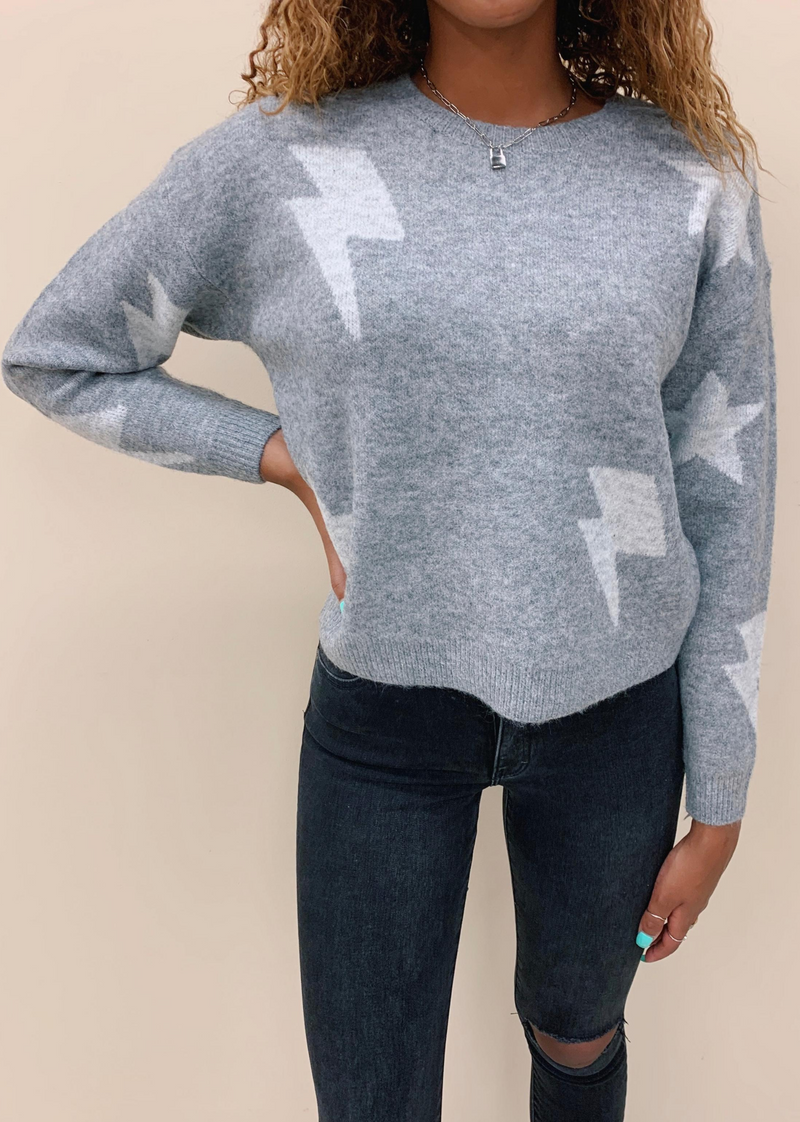 Perfect Storm Sweater ★ Heather Grey