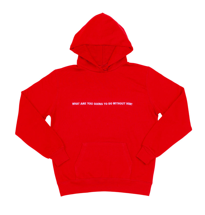 Boys Lie What Are You Going To Do Without Him Hoodie ★ Red