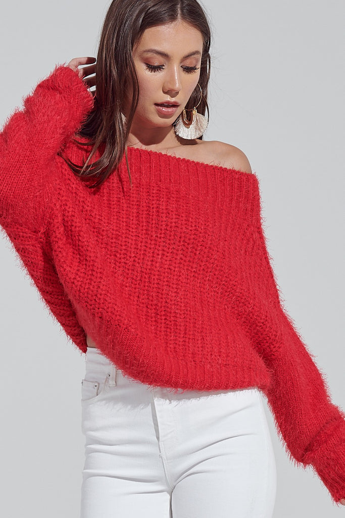 Friend Of The Devil Sweater ★ Red