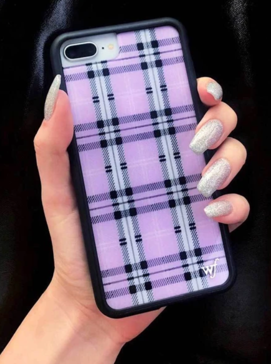 Lavender Plaid Wildflower Phone Case ★ Purple - Rock N Rags