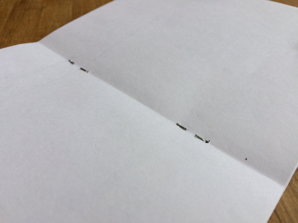 stack of paper stapled together