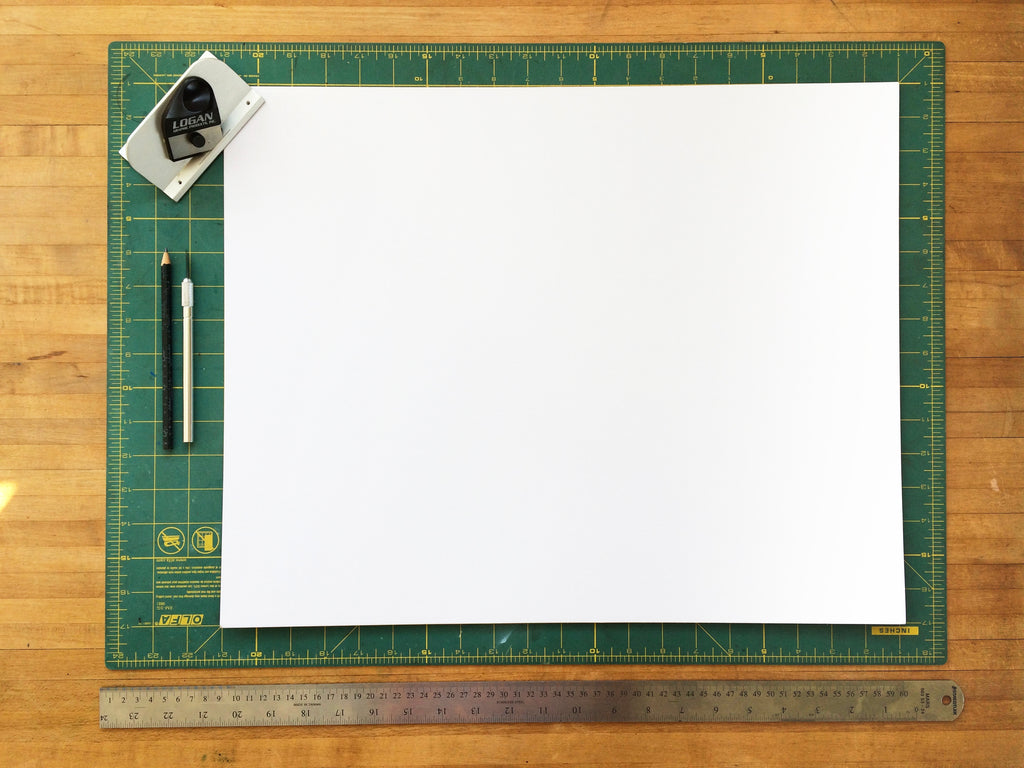 materials needed for cutting your own mat