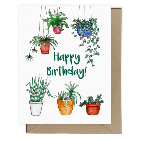 Happy Birthday! (House Plants) Card