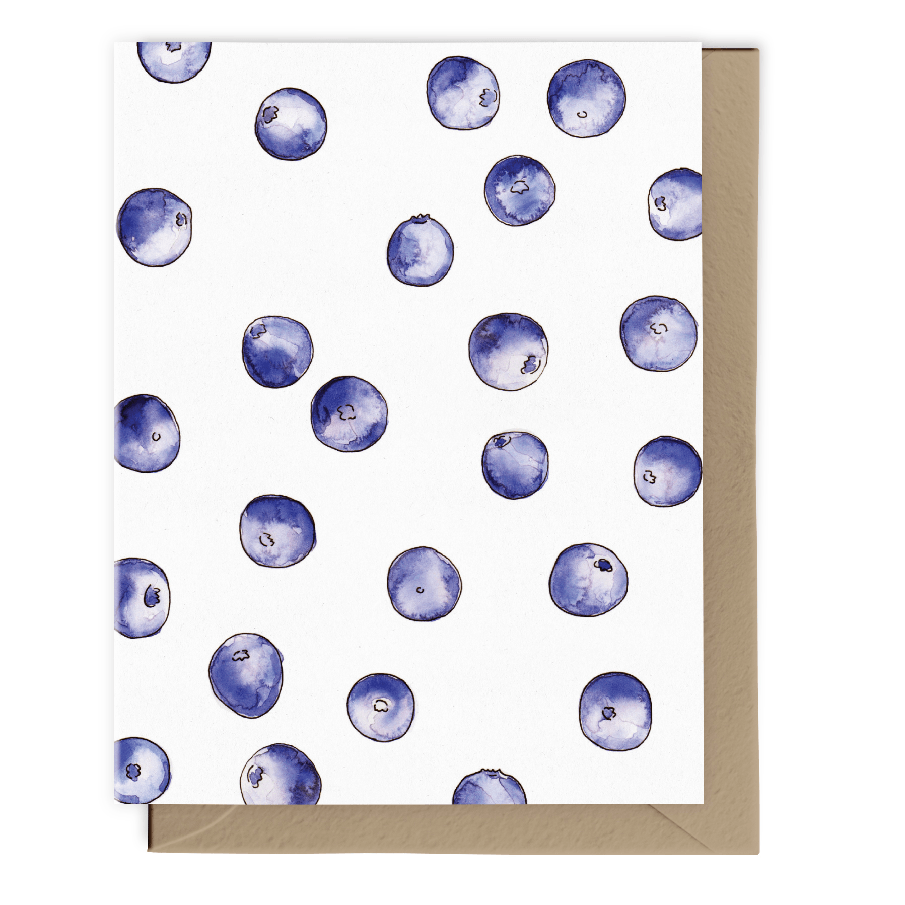 Blueberry Party Card