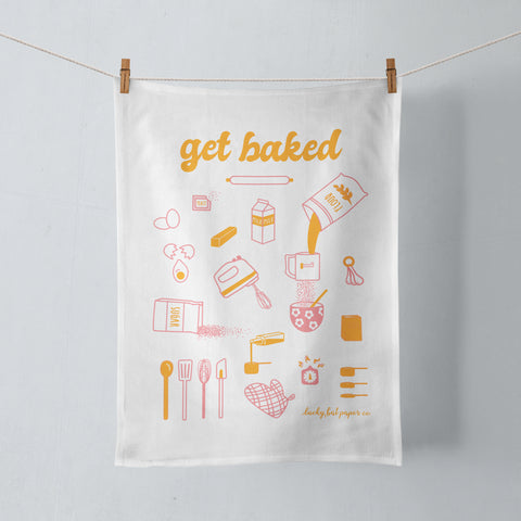 Get Baked Tea Towel