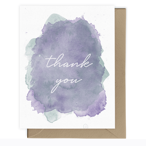 Thank You - Purple/Green