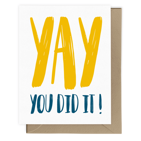 Yay You Did It! Card