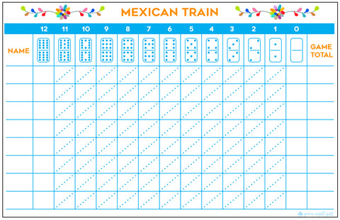 Mexican Train Pad