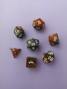 Iron and Amber Dice