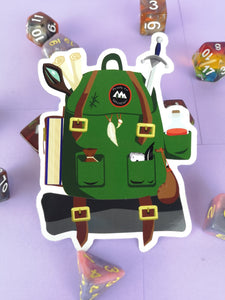 Adventurer's Backpack Sticker