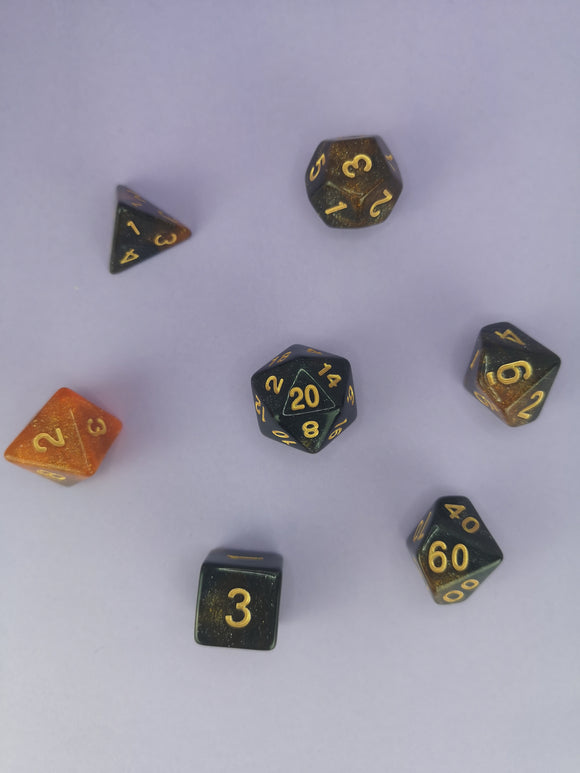 Burning Forge Dice Set