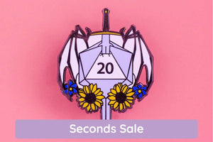 SECONDS SALE Storm Enamel Pin