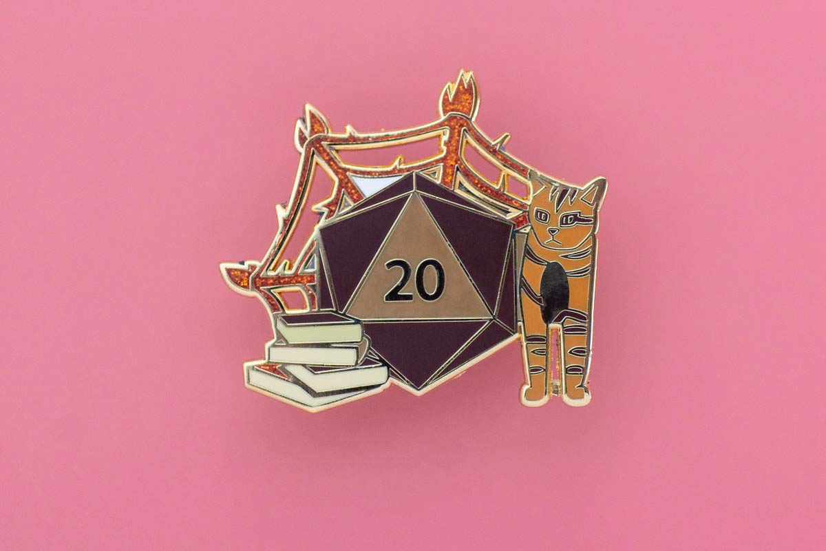 Flame Enamel Pin