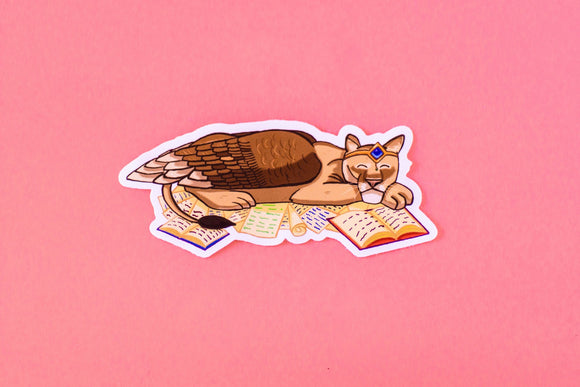 Keeper of the Lore Sphinx Sticker