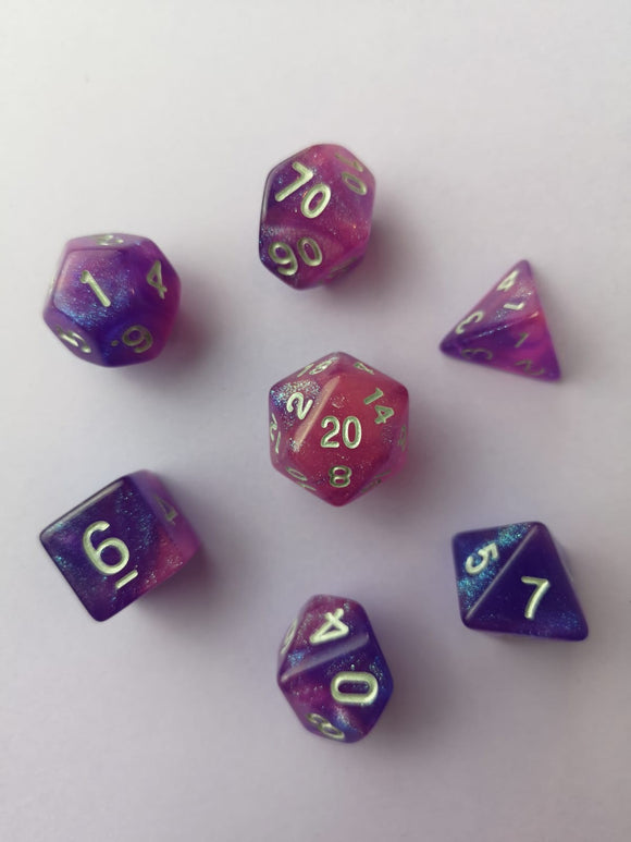 Midnight Lavender Dice