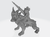 Mousle Knight and Guardian Wolf Mount