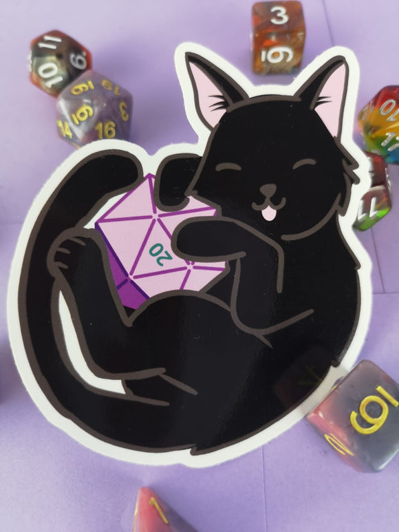 The Secret Cat d20 Sticker