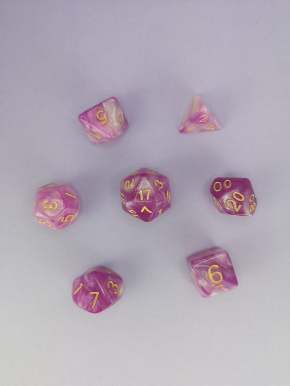 Shimmering Berry Dice Set