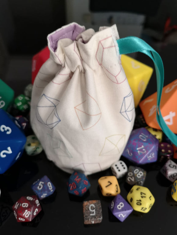 Dice pattern dice bag