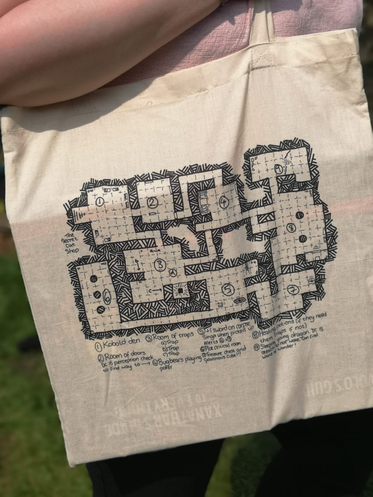 Dungeon Map Tote Bag