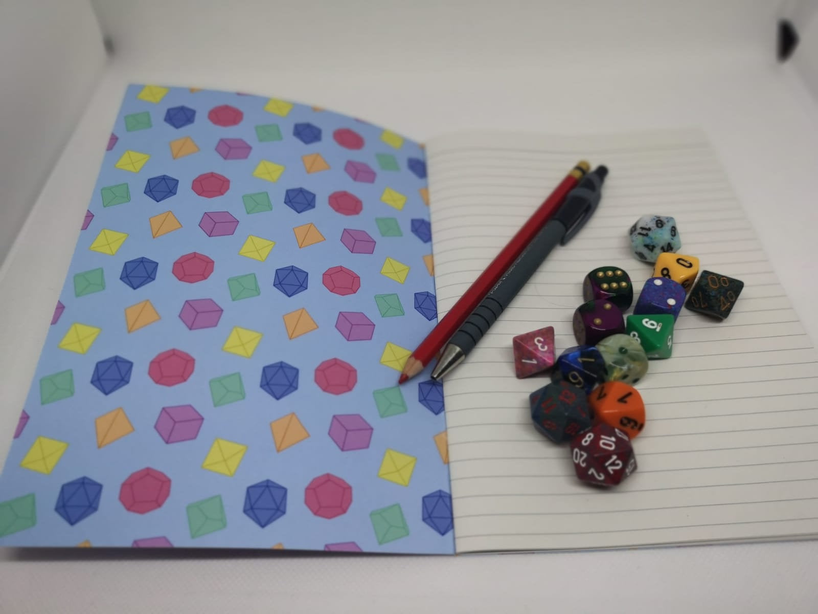 Pastel Dice Notebook