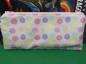 Pastel dice pattern pencil case
