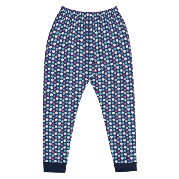 Blue Dice Pattern Men's Joggers