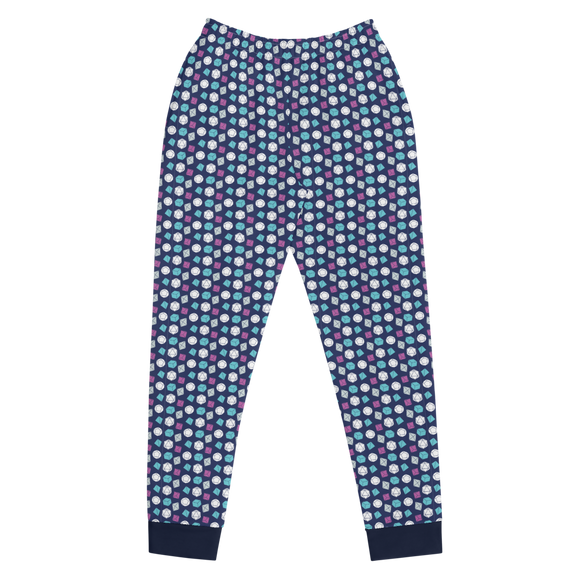 Blue Dice Pattern Women's Joggers