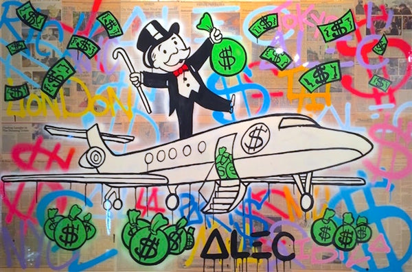 Money Art Work - Alec Monopoly