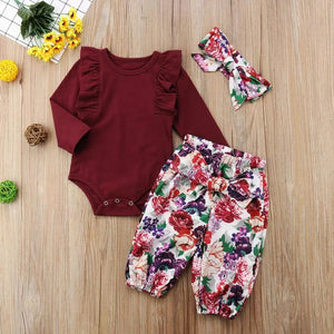 Royal Bouquet Romper Set