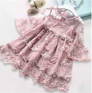 Ariana lace Dress in Pink