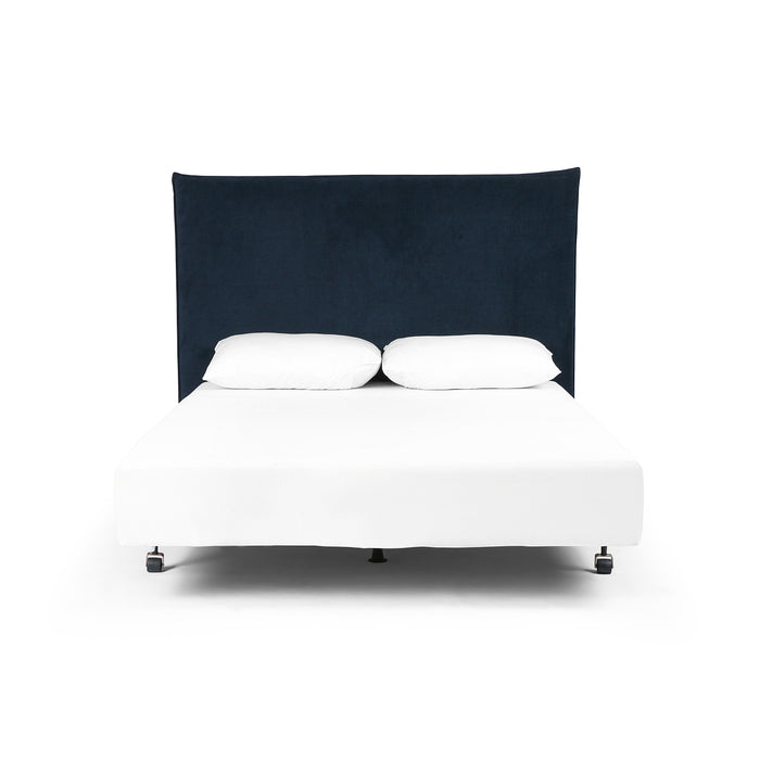 Junia King Headboard-Plush Navy