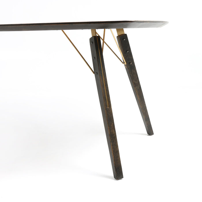 Thoreau Dining Table-Burnt Oak