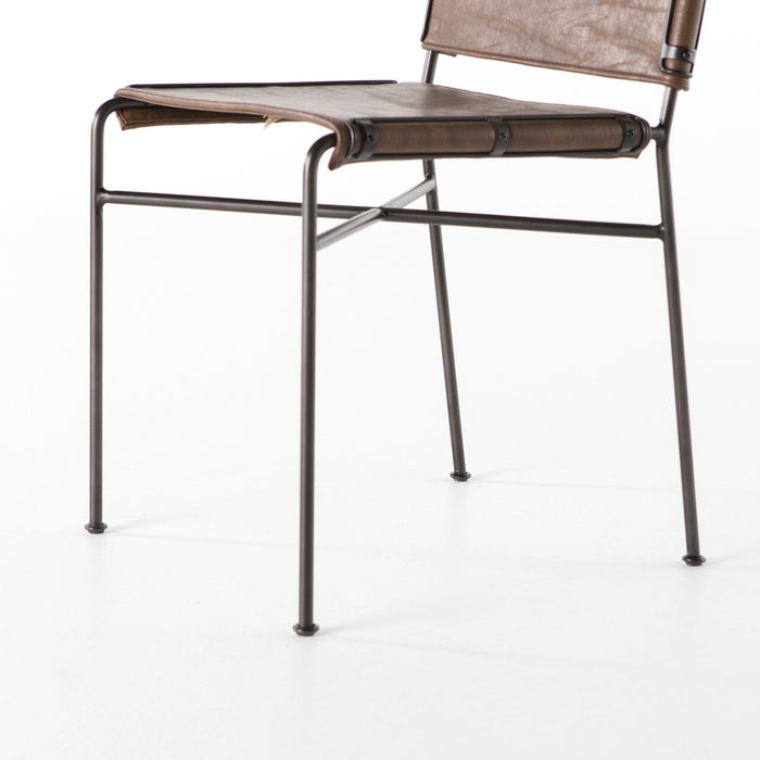 Wharton Dining Chair-Distressed Brown