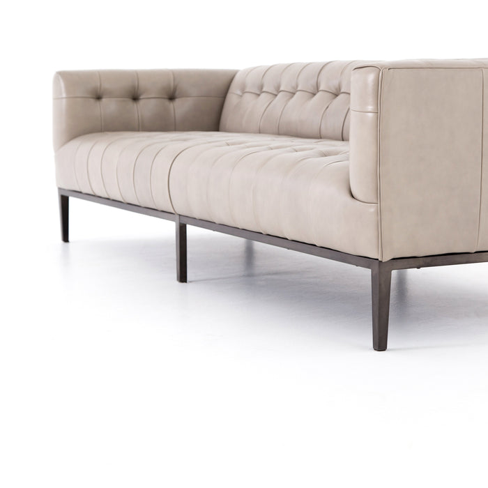 "Marlin Leather Sofa-96"" -Dusty Stone"