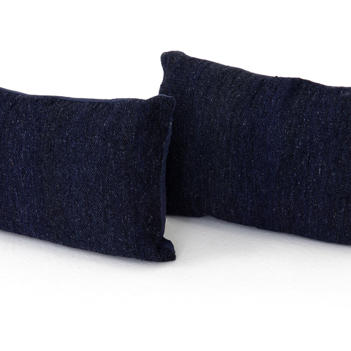 Midnight Kilim Pillow, Set Of 2-16x24""