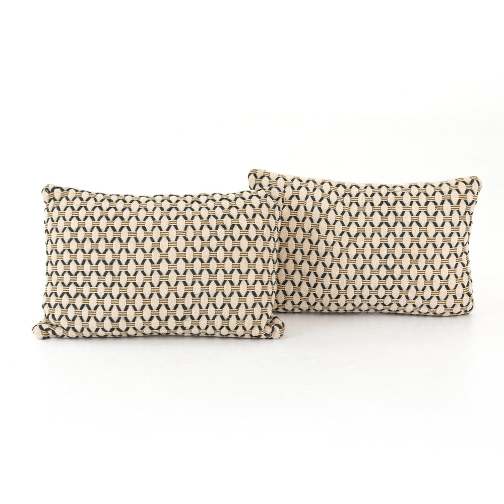 Mariposa Diamond Pillow, Set Of 2-16x24""