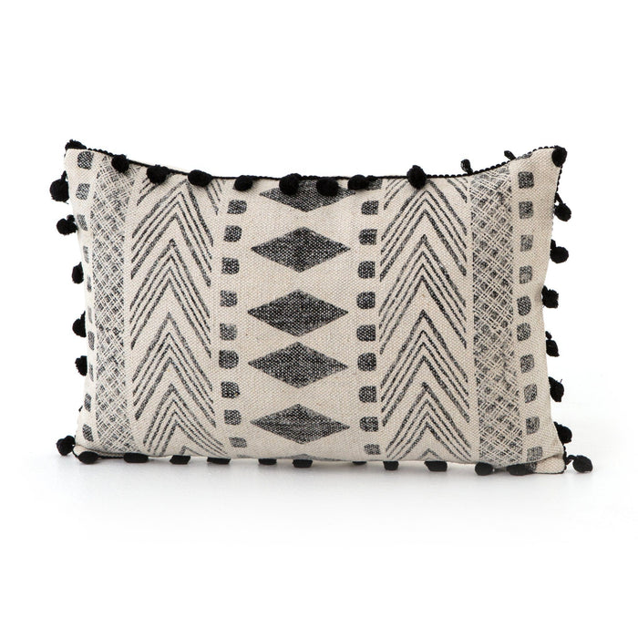 Faded Block Print Pillow, Set Of 2-16x24